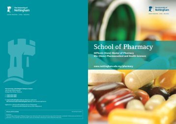 School of Pharmacy - The University of Nottingham, Malaysia Campus