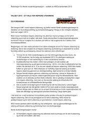 Et valg for høyere utdanning og forskning - Norsk studentorganisasjon