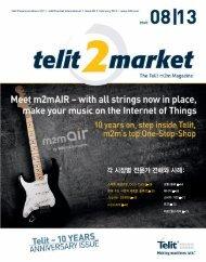 각 시장별 전문가 견해와 사례: - Telit