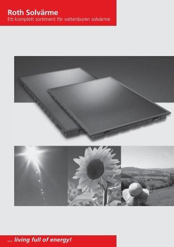 Roth solarsystem, projektering och montering - Roth Nordic AB