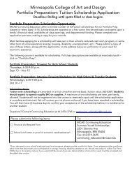 Tuition Scholarship Application - Minneapolis College of Art and ...