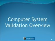 Computer System Validation Overview - NicheXperts