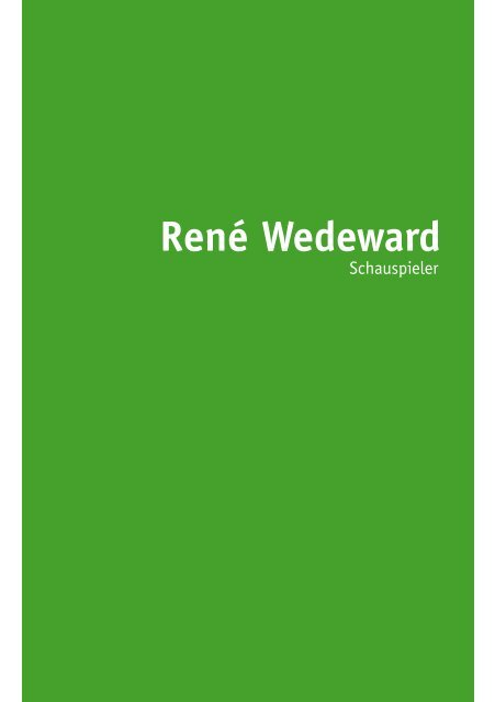 curriculum vitae - René Wedeward