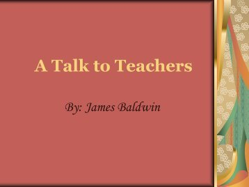 A Talk to Teachers - Fordham University Faculty