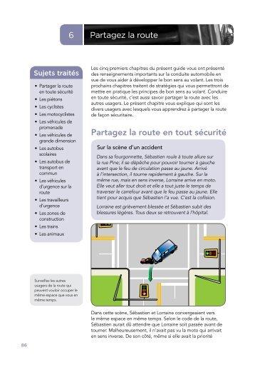Chapitre 6 à 8 : Mettre en pratique le bon sens au volant