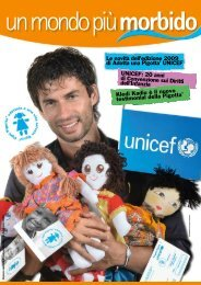 un mondo più morbido - Pigotta - Unicef