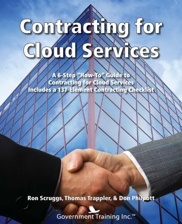 Excerpt from Contracting for Cloud Services. Introduction