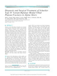 Diagnosis and Surgical Treatment of Schatzker Type IV Variant ...