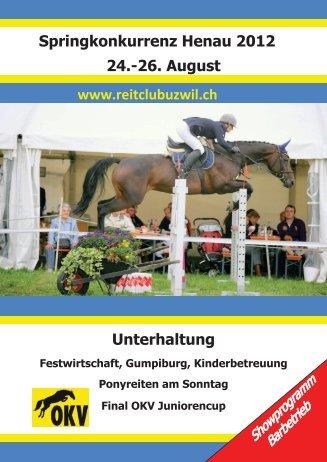 Preis vom Ryterland Henau - Reitclub Uzwil