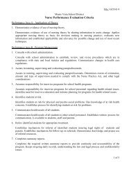 Nurse Performance Evaluation Criteria - Monte Vista School District
