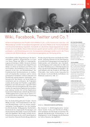Lehren und lernen mit - Schweizerischer Verband für Weiterbildung ...