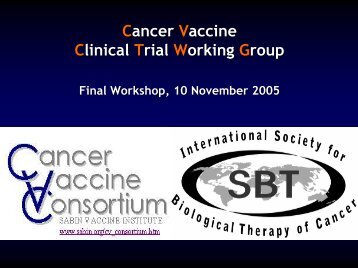 Cancer Vaccine Clinical Trial Working Group