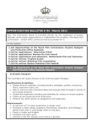 OPPORTUNITIES BULLETIN # 94 –March 2011 - The Royal Film ...
