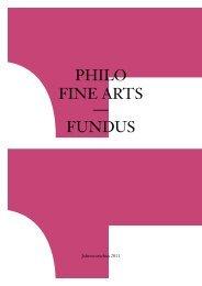 Die Lust am  Unseriösen - Philo Fine Arts