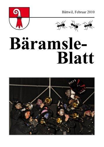 Bäramsle-Blatt Ausgabe Februar 2010 - Gemeinde Bättwil