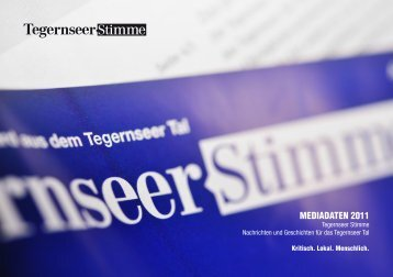 MEDIADATEN 2011 - Tegernseer Stimme