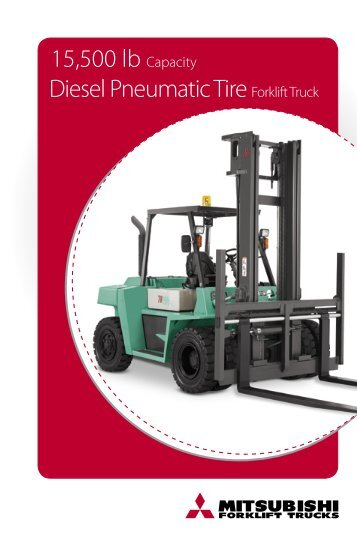 15,500 lb Capacity Diesel Pneumatic Tire Forklift Truck - Techlift