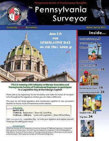 Newsletter 4 - Pennsylvania Society of Land Surveyors