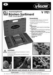 V1921 Bürsten-Sortiment - Vigor Equipment