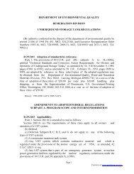 Underground Storage Tank Regulations