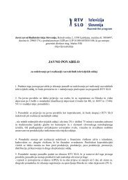 Javno povabilo za sodelovanje pri realizaciji ... - RTV Slovenija