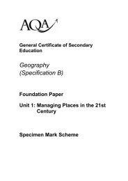 Mark Scheme F