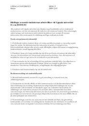 Riktlinjer för studenternas arbetsvillkor - Uppsala universitet