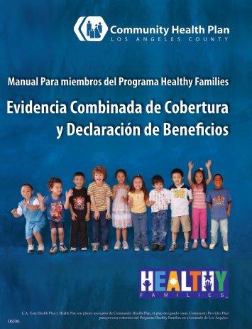 Evidencia Combinada de Cobertura y Declaración de Beneficios ...