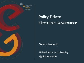 Policy-Driven Electronic Governance - UNU-IIST - United Nations ...
