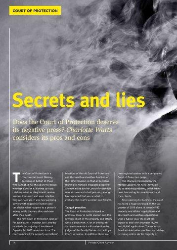 Secrets and lies - Wilsons