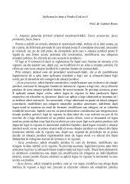 Aplicarea în timp a Noului Cod civil Prof. dr. Gabriel Boroi 1. Aspecte ...