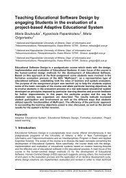 Teaching Educational Software Design by engaging Students in the ...