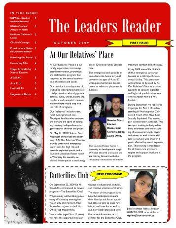 The Leaders Reader – October 2009 - Ka Ni Kanichihk