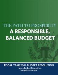 Read the Plan - House Budget Committee