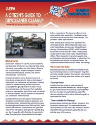 A Citizen's Guide to Drycleaner Cleanup (PDF) - State Coalition for ...