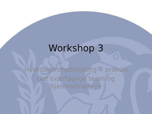 Workshop 3 - ucf.dk