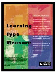 Learning Type Measure - About Learning