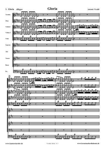 Vivaldi, Gloria - Free Sheet Music Downloads