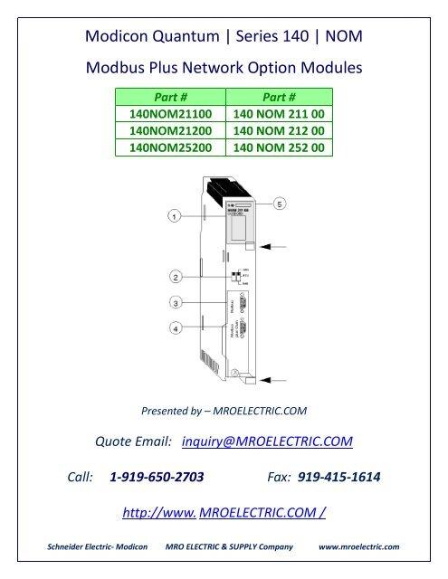 Modicon PLC 140 NOM 212 00 140NOM21200 EtherNet/IP Modbus