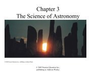 Chapter 3 The Science of Astronomy - Physics & Astronomy