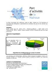 Parc d'activités de la Malnoue - Agglomération de Marne-la-Vallée ...