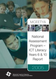 ICT Literacy Years 6 & 10 Report - NAP