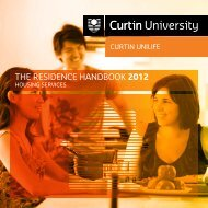 ThE RESIDENCE hANDBOOK 2012 - Unilife - Curtin University