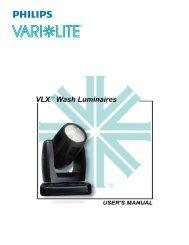 VLX Wash Luminaire User Manual (Rev. A) - Vari-Lite
