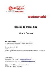 Peuples Solidaires / ActionAid au G20
