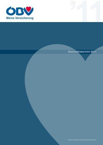 Geschäftsbericht 2011 - die ÖBV