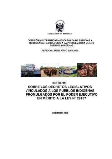 informe sobre los decretos legislativos vinculados a los pueblos ...
