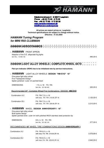 EVB ENGL MINI R55 Clubman.pdf - Tuning