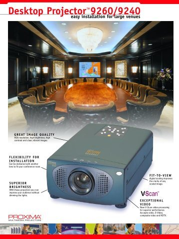 Desktop Projector™9260/9240 - Projectors from ProjectorPoint