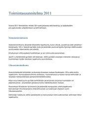 Toimintasuunnitelma 2011.pdf - Kemistikilta
